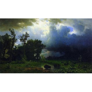 The Museum Outlet - Before the Storm by Bierstadt - Poster Print Online Buy (24 X 32 Inch)