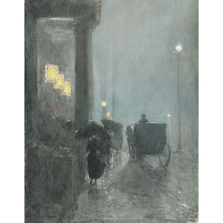 The Museum Outlet - Fifth Avenue, Evening, 1890-93 - Poster Print Online Buy (24 X 32 Inch)