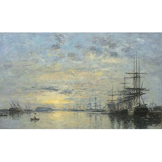 The Museum Outlet - Havre, the Eure Basin, 1872 - Poster Print Online Buy (24 X 32 Inch)
