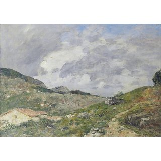 The Museum Outlet - Montagnes, Outskirts of the Nice, 1892 - Poster Print Online Buy (24 X 32 Inch)