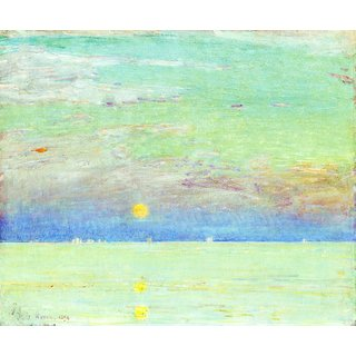 The Museum Outlet - Moonrise at Sunset, 1892 - Poster Print Online Buy (24 X 32 Inch)