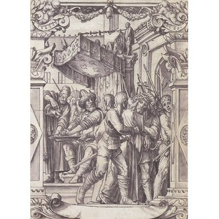 The Museum Outlet - Pilate Washing his Hands, design for a stained glass window. c.1528 - Poster Print Online Buy (24 X 32 Inch)