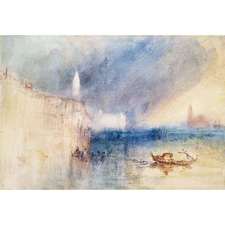 The Museum Outlet - Storm at the Mouth of the Grand Canal, Venice, 1840 - Poster Print Online Buy (24 X 32 Inch)