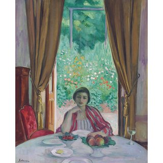 The Museum Outlet - The Lunch, Aix-les-Bains, 1920 - Poster Print Online Buy (24 X 32 Inch)