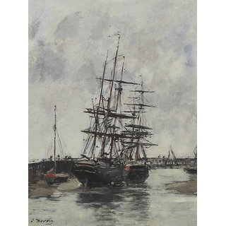 The Museum Outlet - Trouville, the Jetties in Harbour, 1880-85 - Poster Print Online Buy (24 X 32 Inch)
