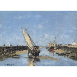 The Museum Outlet - Trouville, the Jetties in Harbour, 1890 - Poster Print Online Buy (24 X 32 Inch)
