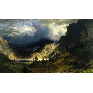The Museum Outlet - Bierstadt - Storm in the Rocky Mountains - Poster Print Online Buy (24 X 32 Inch)