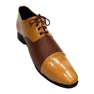 Mclaine Premium Beige Brown Dot Design Party Wear Shoe