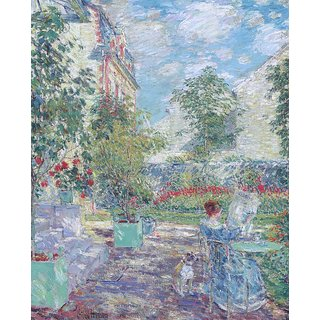 The Museum Outlet - In a French Garden, 1907 - Poster Print Online Buy (24 X 32 Inch)