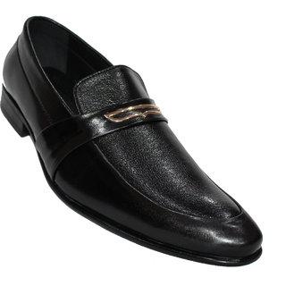 Mclaine Premium Black Buckle Design Party Wear Shoes