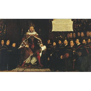 The Museum Outlet - Henry VIII and the Barber Surgeons. ca1543 - Poster Print Online Buy (24 X 32 Inch)