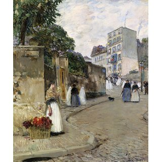 The Museum Outlet - Rue Montmartre, Paris, 1888 - Poster Print Online Buy (24 X 32 Inch)