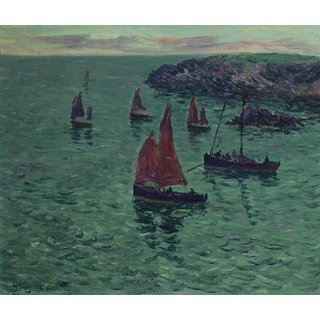 The Museum Outlet - The Sea with Pinnaces, 1897 - Poster Print Online Buy (24 X 32 Inch)