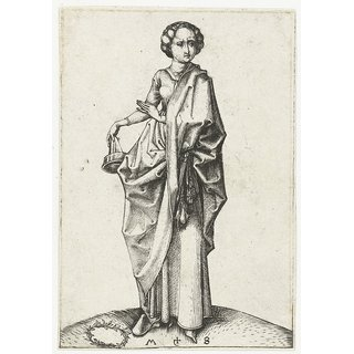 The Museum Outlet - The fourth foolish virgin. 1470-1490 - Poster Print Online Buy (24 X 32 Inch)