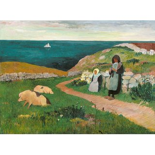 The Museum Outlet - Young Breton Girls in the Field, 1890-91 - Poster Print Online Buy (24 X 32 Inch)
