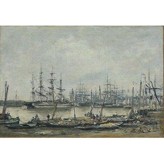 The Museum Outlet - Bordeaux, the Quais, 1874 - Poster Print Online Buy (24 X 32 Inch)