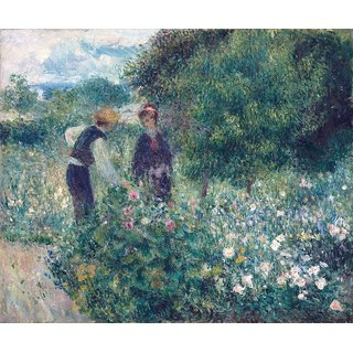 The Museum Outlet - Picking Flowers, 1875-76 - Poster Print Online Buy (24 X 32 Inch)
