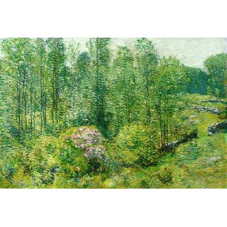 The Museum Outlet - Spring Landscape with a Farmer and White Horse, 1906 - Poster Print Online Buy (24 X 32 Inch)