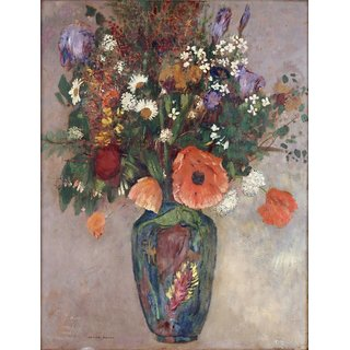 The Museum Outlet - Bouquet of Flowers in a Vase - Poster Print Online Buy (24 X 32 Inch)