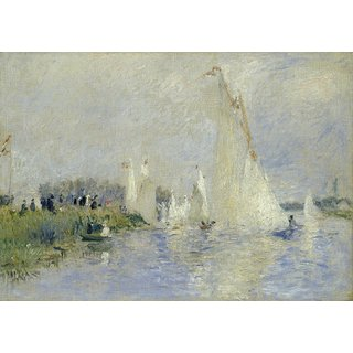 The Museum Outlet - Regatta at Argenteuil, 1874 - Poster Print Online Buy (24 X 32 Inch)