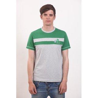 Smokestack Cotton Round Neck Half Sleeves Men's CORE T-Shirt (Grey)
