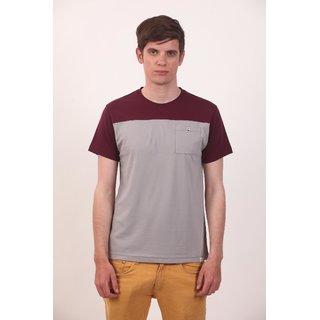 Smokestack Cotton Round Neck Half Sleeves Men's CORE T-Shirt Brown