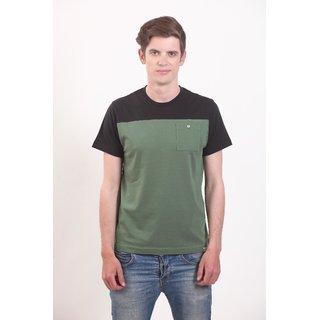 Smokestack Cotton Round Neck Half Sleeves Men's CORE T-Shirt (Green)