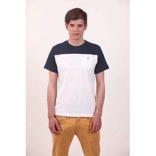 Smokestack Cotton Round Neck Half Sleeves Men's CORE T-Shirt (White)