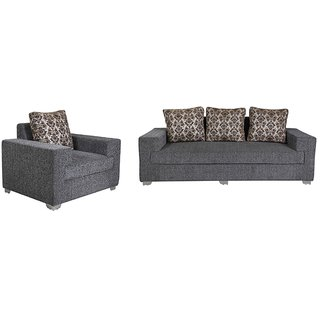 VINTAGE -  Regalia 4 Seater Sofa (3+1) in Dark Grey