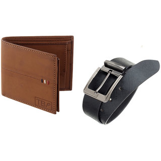 The Blue Pink Special Combo of 2 in1 Rich Pu Leather Wallet And Genuine Leather Belt (WD08-ALB0801)