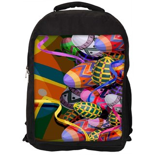 Snoogg Designer Eggs 2474 Digitally Printed Laptop Backpack