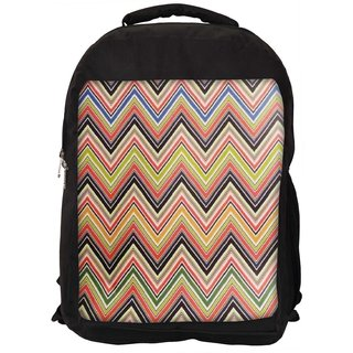 Snoogg Big Waves Blue Light 2519 Digitally Printed Laptop Backpack