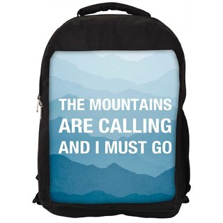 Snoogg Wanderlust Mountains Are Calling 2868 Digitally Printed Laptop Backpack
