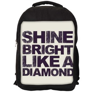 Snoogg Shine Bright Like A Diamond 2869 Digitally Printed Laptop Backpack