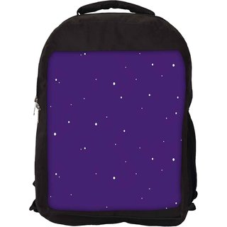 Snoogg Snow Graphic Purple Designer Laptop Backpacks