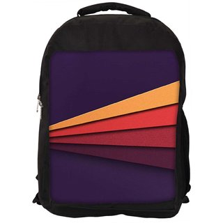 Snoogg Embossed Stripes 2624 Digitally Printed Laptop Backpack