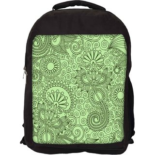 Snoogg Fabric Pattern Light Green Designer Laptop Backpacks
