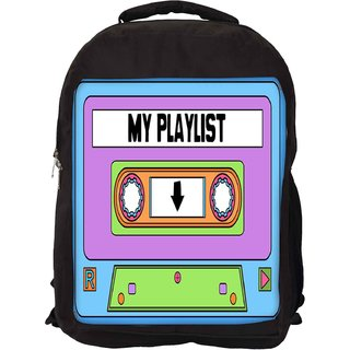 Snoogg Casette Playlist Designer Laptop Backpacks