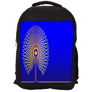 Snoogg Abstract Golden Tree Designer Laptop Backpacks