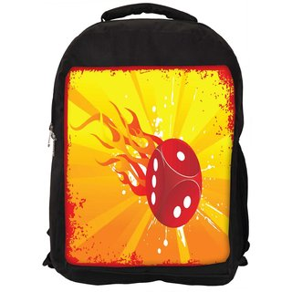 Snoogg Abstract Grunge Frame Of Vector Dice Designer Laptop Backpacks