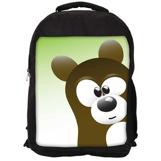 Snoogg Cute Bear Character Designer Laptop Backpacks