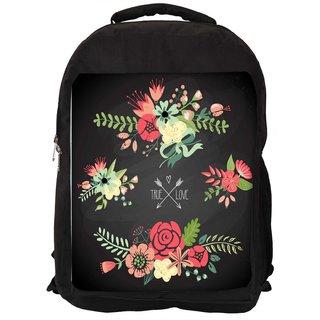 39b8342d74dc Buy Snoogg Cute Floral Bouquets Designer Laptop Backpacks Online ...
