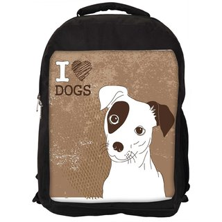 Snoogg Cute Jack Russell Terrier Brilliant Card For Doglovers Designer Laptop Backpacks