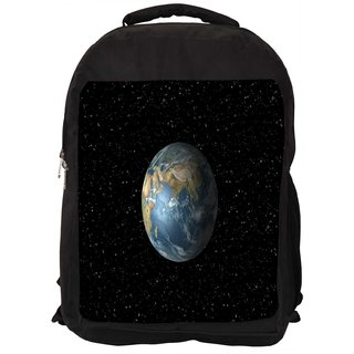 Snoogg Earth Digitally Printed Laptop Backpack