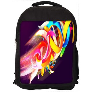 Snoogg Colorful Shapes Abstract Digitally Printed Laptop Backpack
