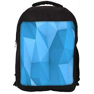 Snoogg Blue Polygon 2757 Digitally Printed Laptop Backpack
