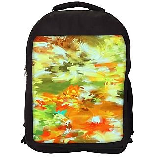 Snoogg Abstract Paint Designer Laptop Backpacks