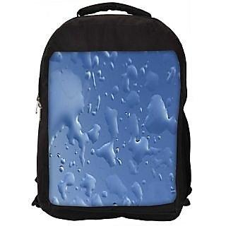 Snoogg Blue Drops Background Gkbhvjyd Digitally Printed Laptop Backpack