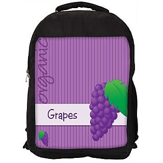 Snoogg Bright Organic Purple Grape Card In Vector Format Digitally Printed Laptop Backpack