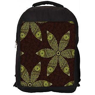 Snoogg Floral Seamless Pattern Designer Laptop Backpacks